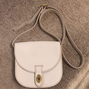 FOSSIL WHITE LEATHER CROSSBODY